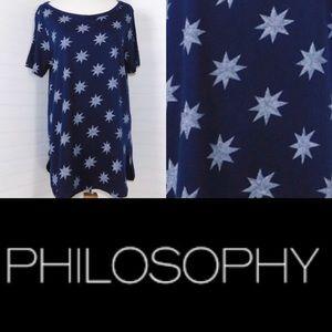 Philosophy Anthropology Star Shirt Long Navy 1X